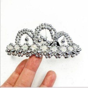 Silver and Crystal Mini Beaded Wedding Tiara
